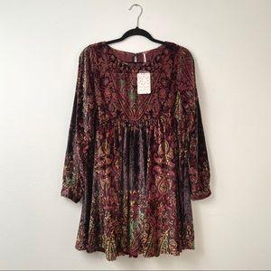 PRICE FRIM🍂 FP Mirror Mirror Velvet Dress